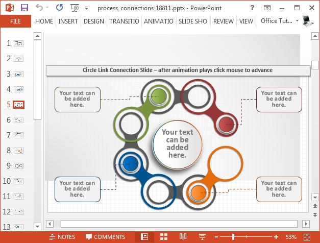 Circular process diagram slide