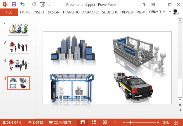 City clipart for PowerPoint