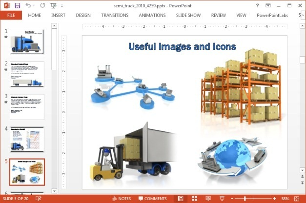 Clipart slide with cargo images