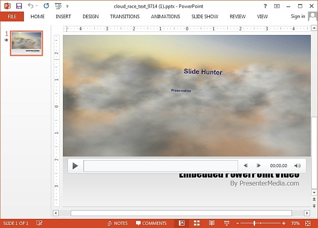 Cloud race video background for PowerPoint