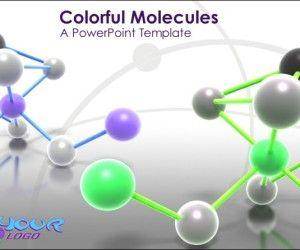 Animated Molecules PowerPoint Template