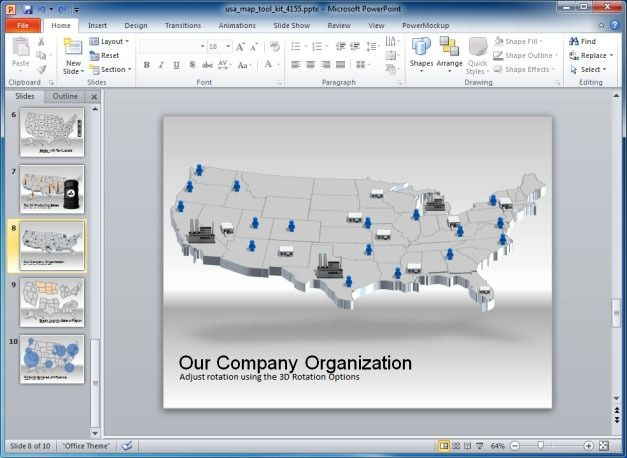 Company Map Of USA