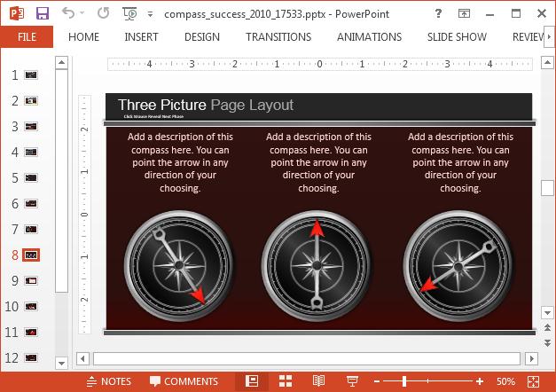 Compass comparison slide