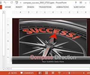 Animated Compass PowerPoint Template