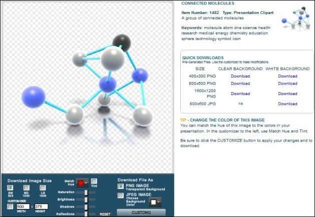 Connected Molecules Clipart