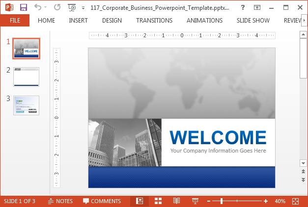Corporate business template for PowerPoint