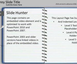 Notepad PowerPoint Template With Turn Page Animation Effect