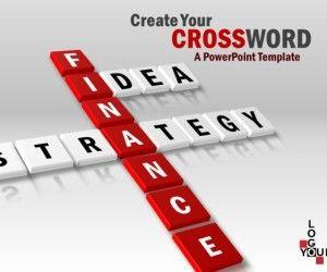 Awesome 3D Crossword PowerPoint Template
