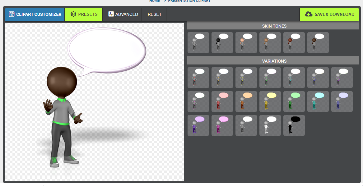 Create characters from different ethnic groups