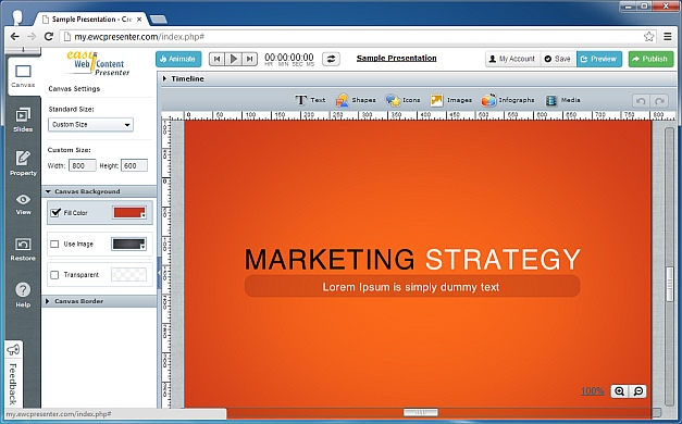 Create marketing content