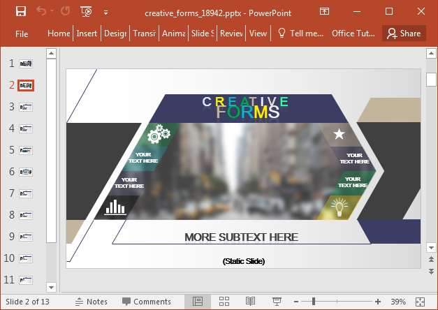 Creative forms PowerPoint template