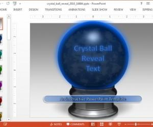 Animated Crystal Ball Reveal PowerPoint Template