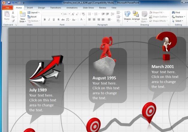 Customizable Timeline Slides
