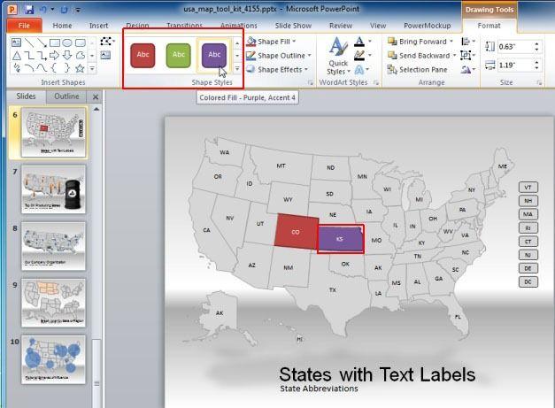 Customize US Map