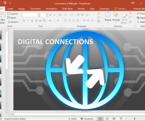 Animated Digital Connections PowerPoint Template