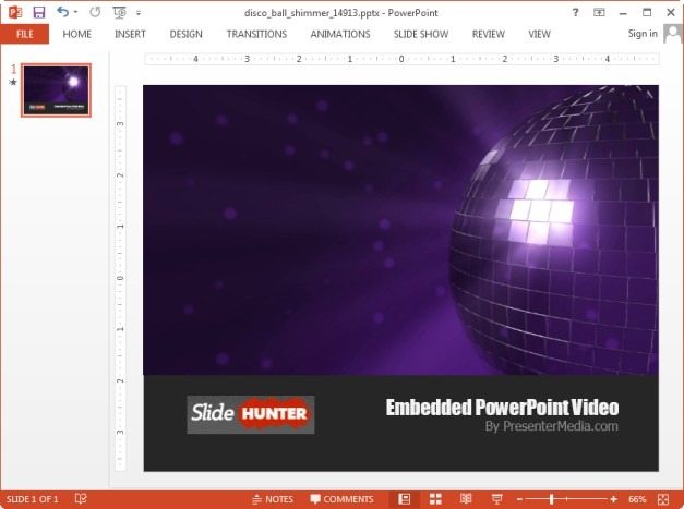 Disco ball template for PowerPoint