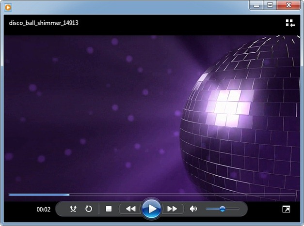 Disco ball video animation