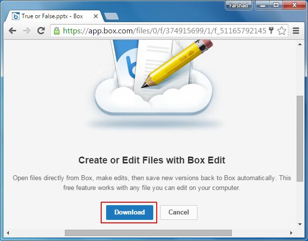 Download Box Edit