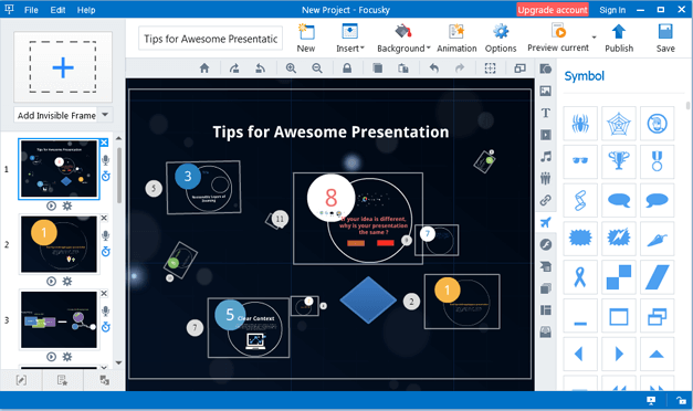 Easy presentation making options