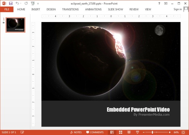 Eclipsed earth PowerPoint video background template