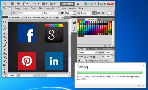 Edit PhotoShop files using Box edit