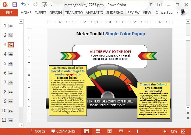 Editable guage diagrams