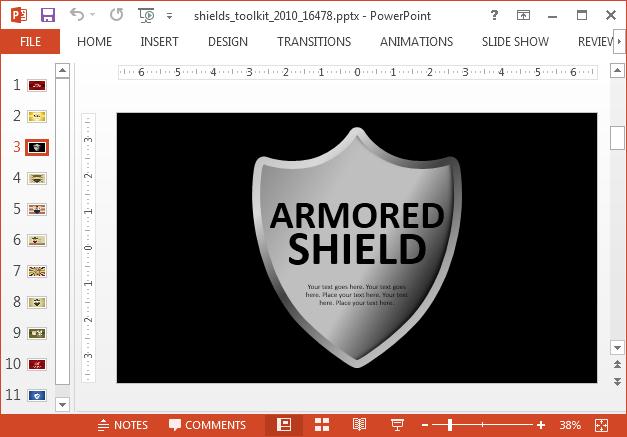 Elegant shield logo