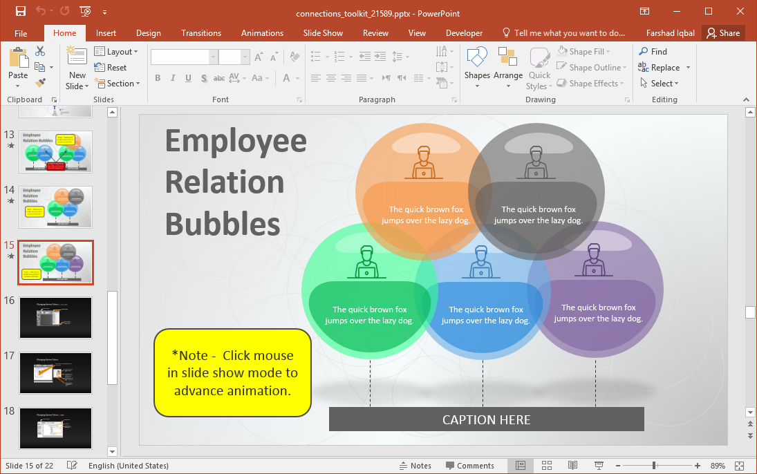Employee Relationship Bubble