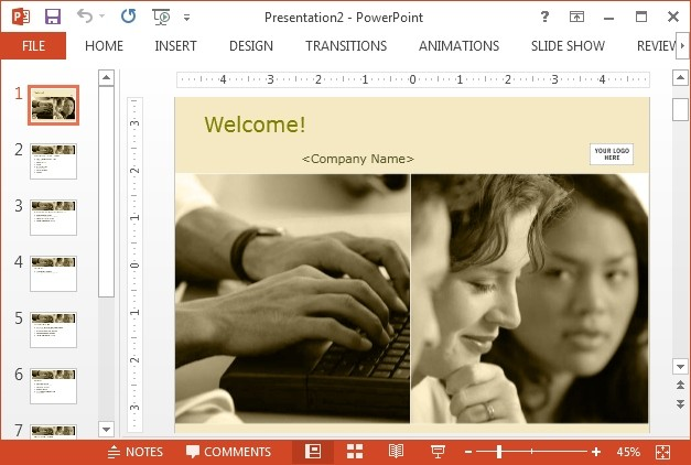 Best free corporate powerpoint templates for Orientation powerpoint presentation template