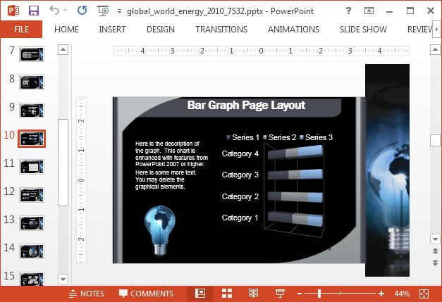 Energy chart layout