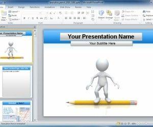Animated Executive Education PowerPoint Template With Pencil