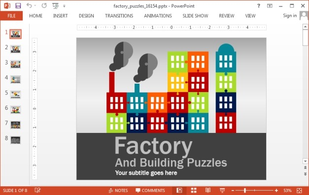Factory PowerPoint template