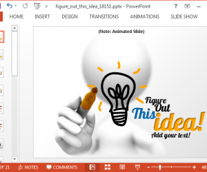 Animated Business Idea PowerPoint Template