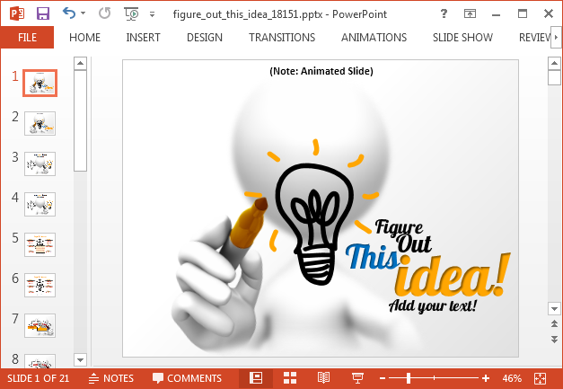 Figure out this idea animated PowerPoint template