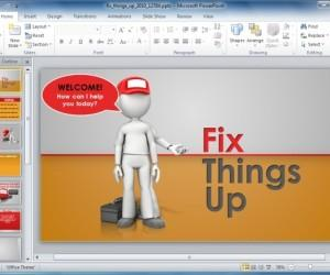Make Service Presentations With Animated Fix Up PowerPoint Template