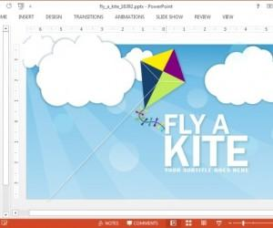 Fly A Kite Animated PowerPoint Template