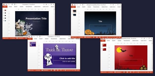 Free Halloween PowerPoint templates