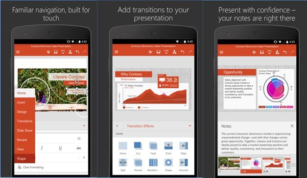 Free PowerPoint app for Android