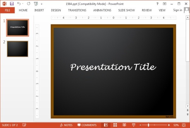 Free chalkboard PowerPoint templatejpg Clt7ZZnQ