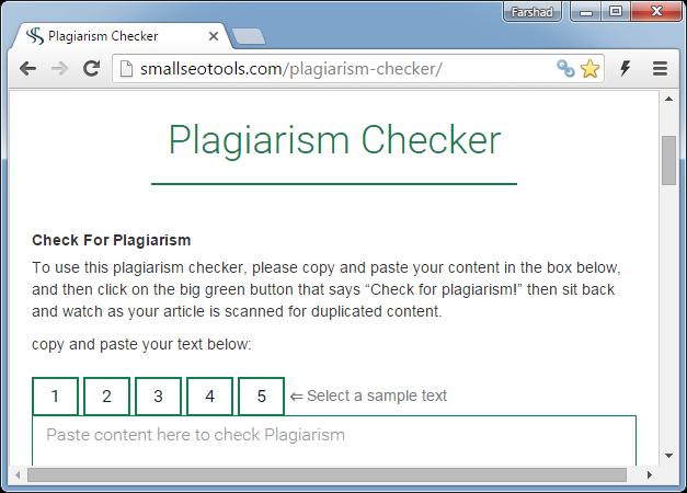 Free plagiarism checker