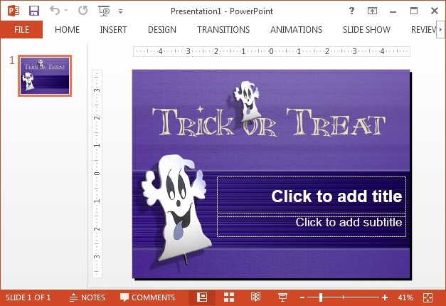 Ghost face PowerPoint template