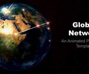 Animated Global Network Template For PowerPoint