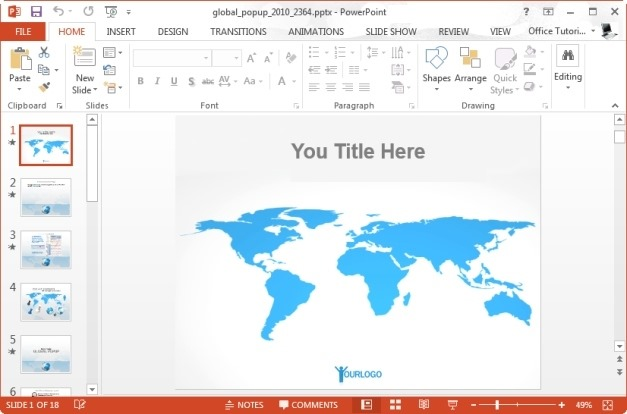 Global Popup PowerPoint Template