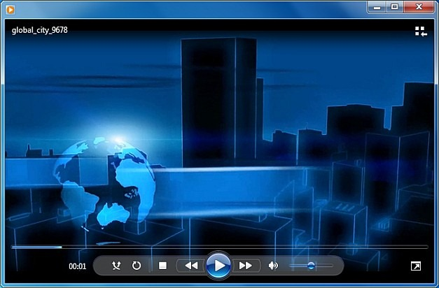 Global city video animation for PowerPoint