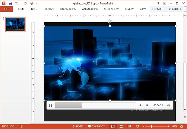 Global city video animation template for PowerPoint