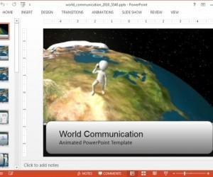Animated Global Communication PowerPoint Template