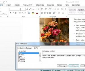 How To Use MS Word Go To Feature For Quick Access To Page Sections