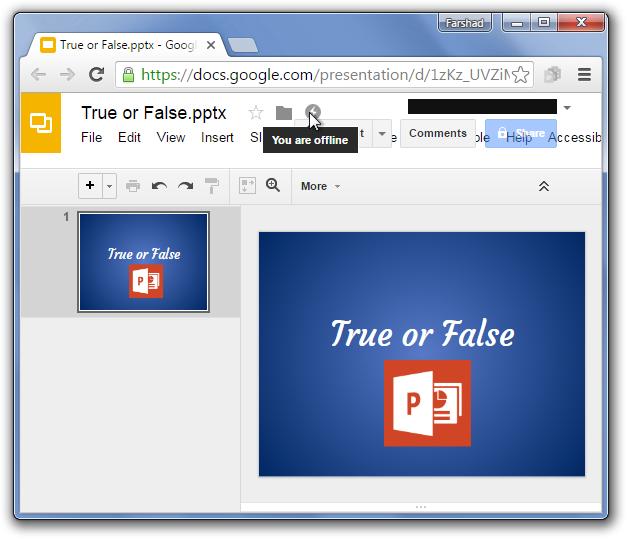 Google Drive Offline extension