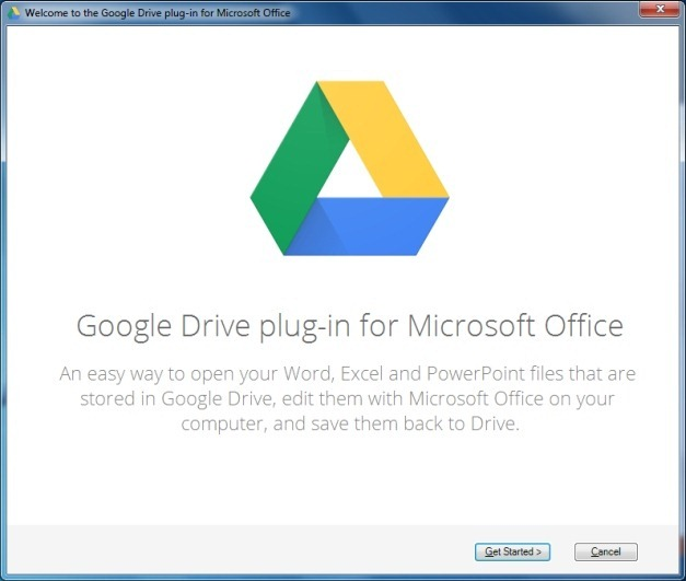 Google Drive plugin for Microsoft Office