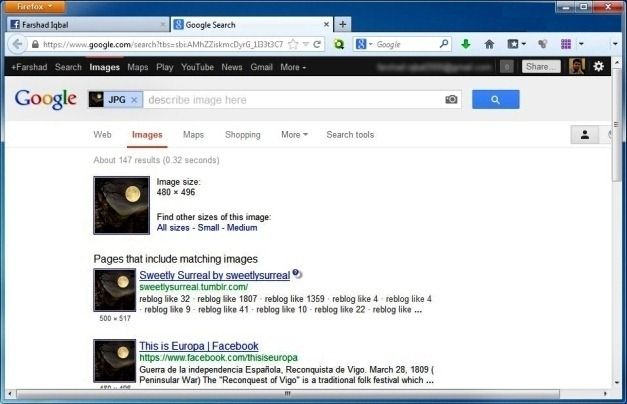 Photo Appraiser Perform Reverse Image Search For Facebook